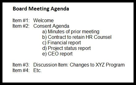 Nonprofit Meeting Agenda Fundraising - board meeting agenda