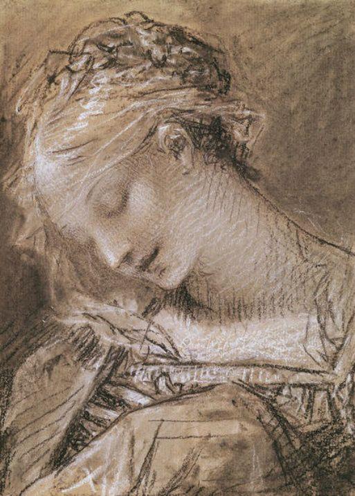 Pierre-Paul Prud'hon ~ Head of the Virgin