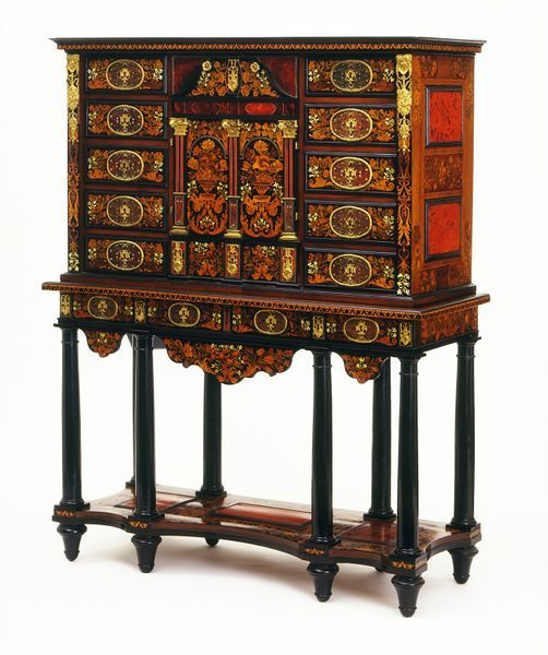 Cabinet on stand, made Paris ca. 1670