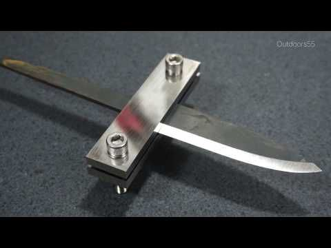 How To Make A Simple File Guide For Knife Making Youtube Knife Making Knife Sharpening Stone