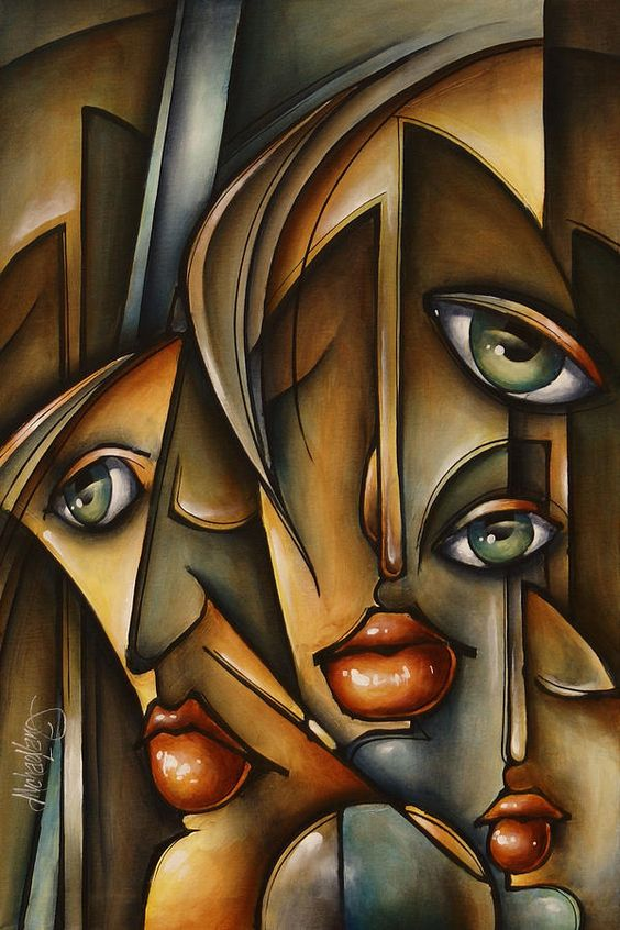 Figurative Painting - Urban Expression by Michael Lang