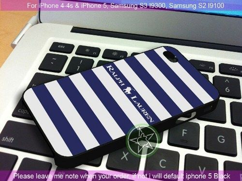 Polo Ralph Lauren Blue White Stripes iPhone 4/4S/5, Samsung S4/S3/S2 cover cases | sedoyoseneng - Accessories on ArtFire