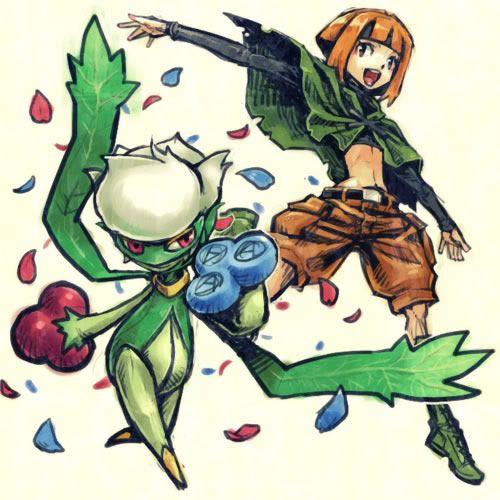 Gardenia Roserade With Images Pokemon Pokemon Fan Art
