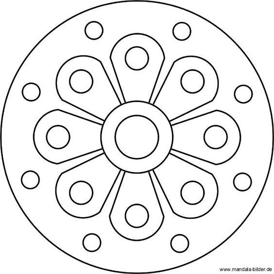 blumen mandala f r kinder ab 4 jahren malvorlagen pinterest vorschule mandalas und. Black Bedroom Furniture Sets. Home Design Ideas