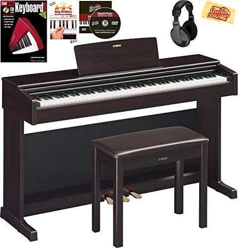 Yamaha Arius Ydp 144 Console Digital Piano Rosewood Bundle With Furniture Bench Headphones Keyboard Stickers Instructional Book Austin Bazaar Instructiona In 2020 Digital Piano Piano Bench Furniture