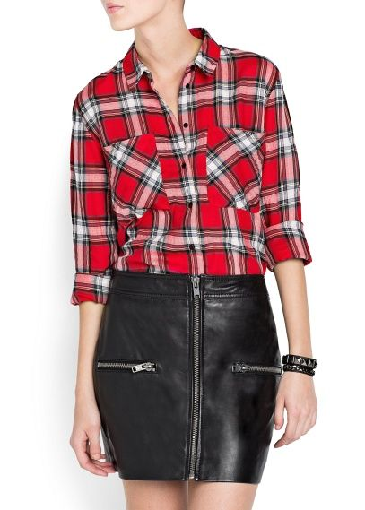 """Emma! Found the plaid shirt ... $60 from MANGO - NEW - Plaid cotton shirt. still can unbutton to wrap around waist... woman's cut etc. Found it on """"Polyvore.com"""" and it is a great website to surf. Check it out."""