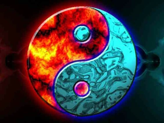 Yin yan fire and ice