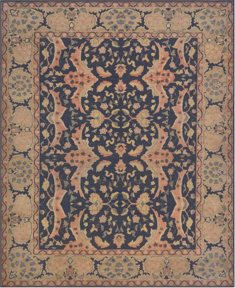 Mansour Fine Handmade Sultanabad Rug French Country Kitchens Rugs Sultanabad Rug