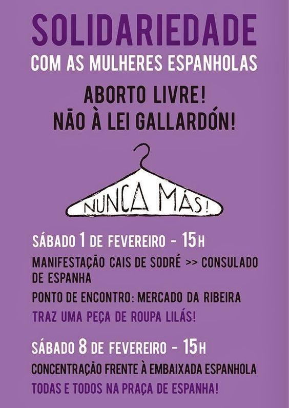 mujer del mediterraneo: Desde Portugal Solidaridad con las mujeres españolas