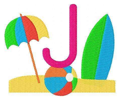 INSTANT DOWNLOAD Summer Beach Surfing 5x7 by JoyfulStitchesEtsy, $13.00