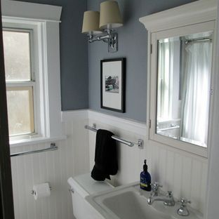 Benjamin Moore Englewood Cliffs Gray Amp White Bathroom