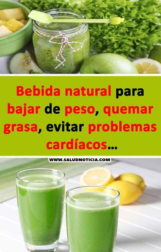 Bebidas naturales para perdida de peso