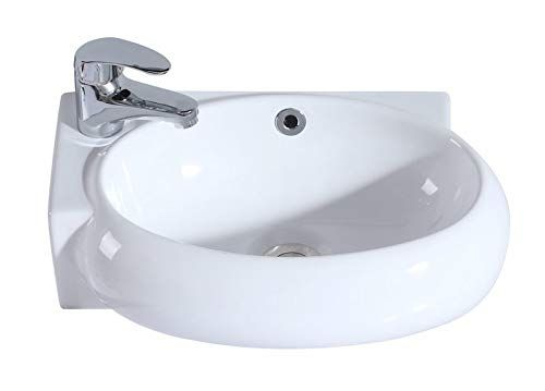 Eridanus Serie Orson Vasque Suspendu Lavabo Mural Avec Trop Plein Salle De Bain Lave Mains Evier En Ceramiqu En 2020 Accessoires Salle De Bain Vasque Suspendue Vasque
