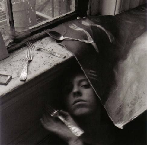 francesca woodman.It must be time for lunch now 1979