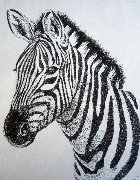 Zebra Stippling by Ashley Odell on ARTwanted
