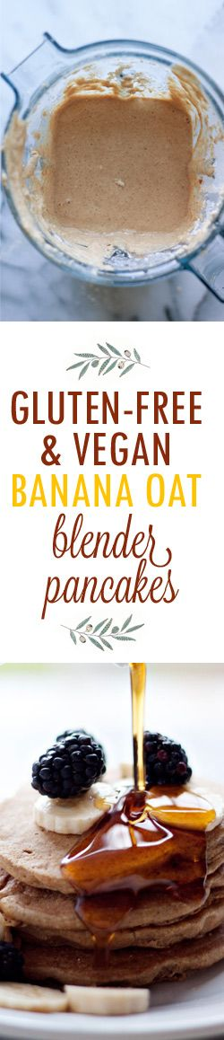 Gluten-Free Vegan Banana Oat Blender Pancakes