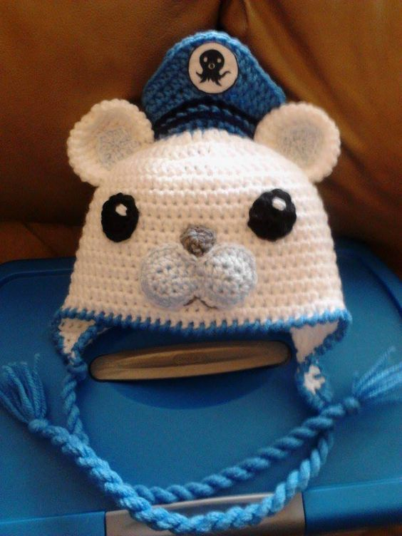 Captain Barnacles from the Octonauts hand made crochet hat. https://www.etsy.com/listing/200325480/octonauts-captain-barnacles-hat?