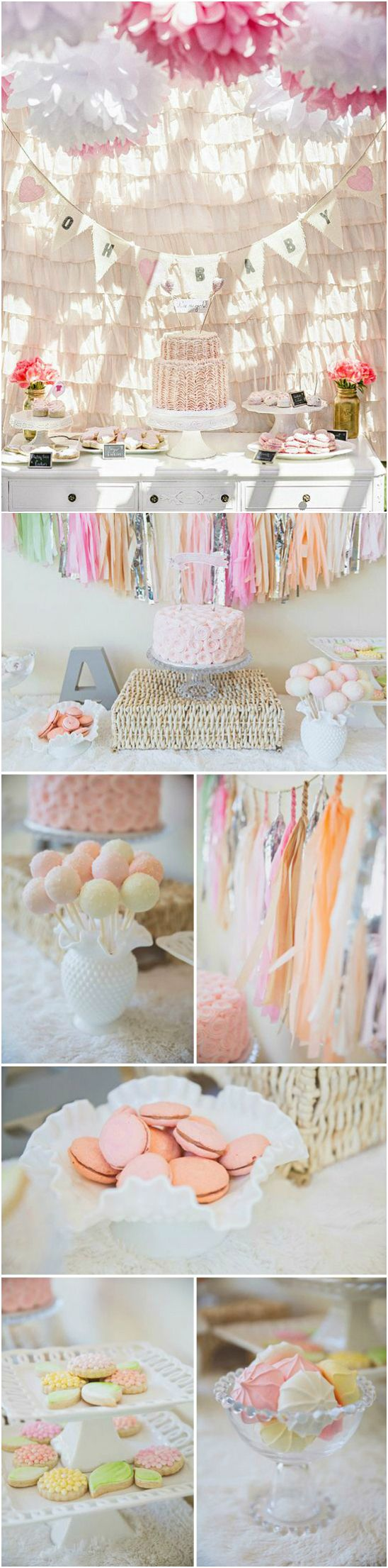 party baby shower pastel decorations baby shower ideas