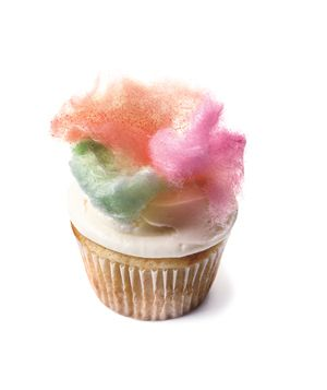 cotton candy topped cupcakes!