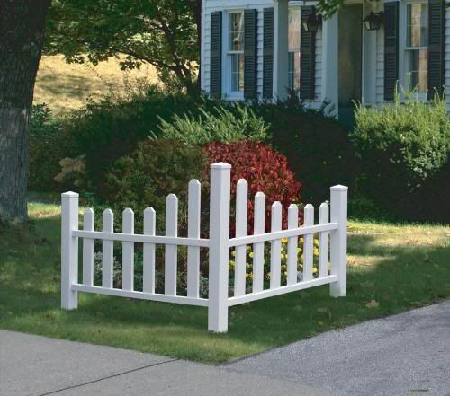 Corner Picket Fence Small Planting Area To Mark