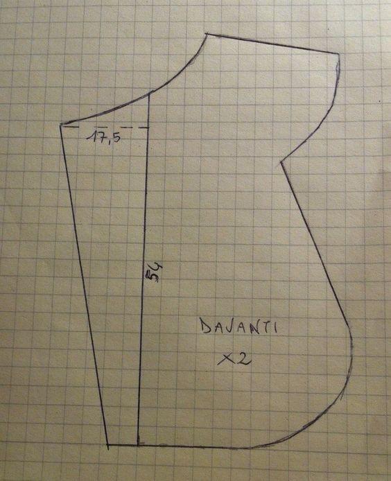 Il cartamodello (davanti) per realizzare il Sacco Nanna della puntata del 4-2-15 per Detto Fatto su Rai 2: