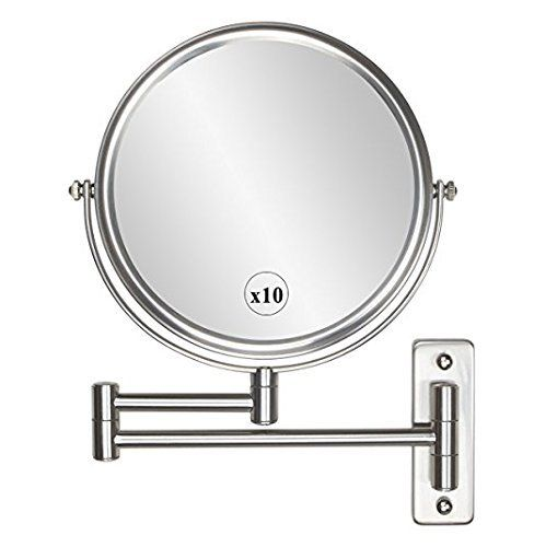 Alhakin 8 Inch Wall Mounted Makeup Mirror With 10x Magnification Homedecor Decor Wall Mounted Makeup Mirror Extendable Bathroom Mirrors Wall Mounted Mirror
