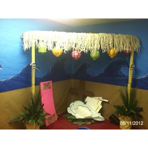 Paul bible tiki hut and surf shack on pinterest for Beach hut decoration ideas