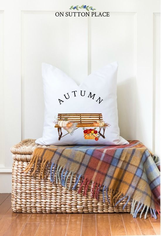 DIY fall decor made easy! Ideas & inspiration for budget-friendly DIY fall decor for your home. Suggestions for inside & out, along with shopping sources. #fall #autumn #falldecor #falldecorideas #pillows #plaid