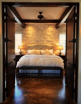 Concrete Floors Texas Hill Country And Master Suite On