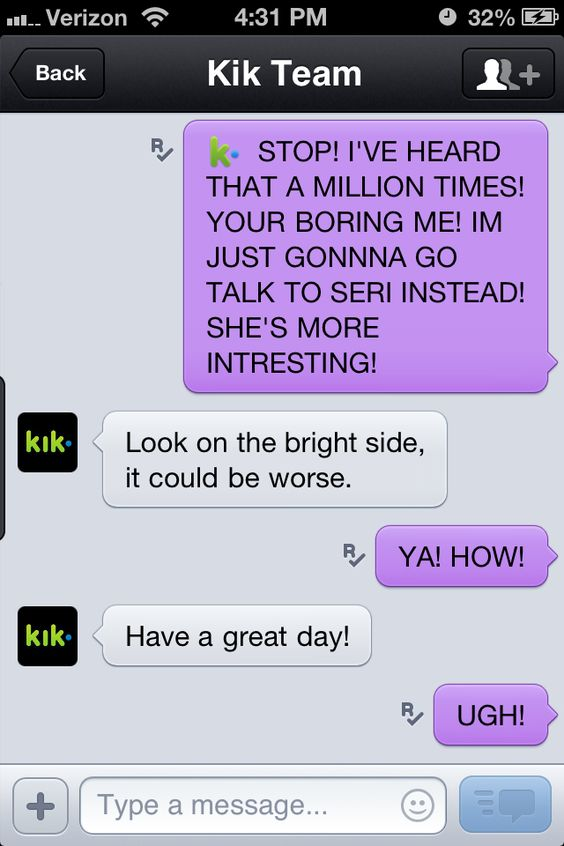 My messages with KIK team ! | KIK Messenger | Pinterest ...