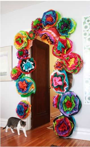 These Aunt Peaches DIY Fiesta Flowers Will Add an Exotic Twist to Decor #diy #papercrafts trendhunter.com
