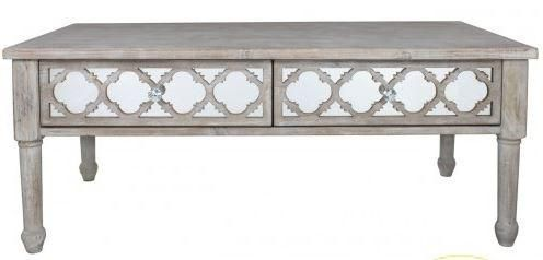 This is ourHamlin Beach 2 Drawer Coffee Table, Made from solid wood which is lightly limed for added protection. Four sturdy legs rise to hold up an ornate bod