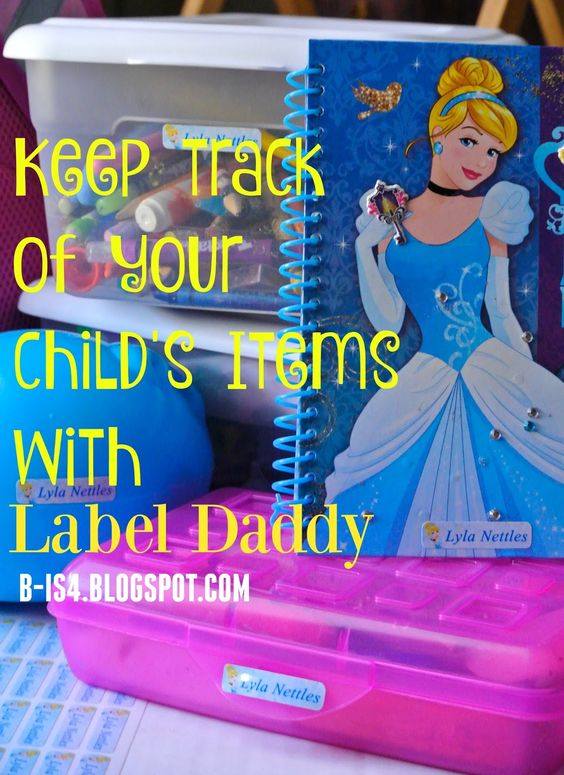 Keep Track of Your Child's Items with Label Daddy - dishwasher and microwave-safe labels for school, camp, utensils and even clothes!