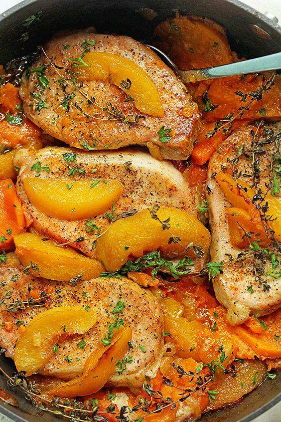 Maple Peach Pork Chops