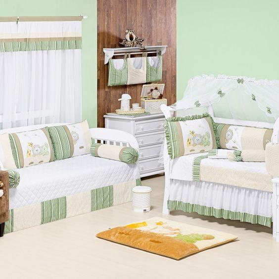 Verde claro: alegria, proteção, juventude, frescor, esperança e calma  Quarto completo Natureza:  http://www.graodegente.com.br/quarto-completo/quarto-para-bebe-natureza-bebe-verde/?utm_source=pinterest&utm_medium=board&utm_campaign=cores-verde