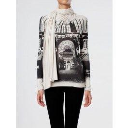 Camiseta punto bufanda estampada #moda #fashion #designer #ropa #apparel