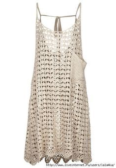 I love this crochet dress/cover-up but I would omit the pocket.