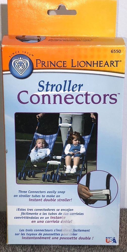 Prince Lionheart Pushchair Stroller Buggy Connectors New