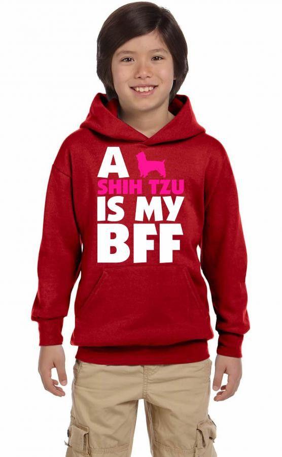 a shih tzu is my bff t shirt design 1 Youth Hoodie