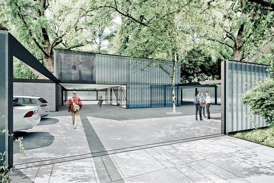 Ankauf im eu weit ausgeschriebenen Wettbewerb.architektonischer  Entwurf eines Neubaus  Für die städtische Gärtnerei im Rathauspark unter Berücksichtigung des Weltkulturerbes der Wiener Innenstadt.