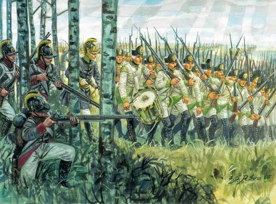 Austrian infantry advancing