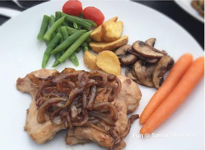 Plate & Palate: Chicken chop with black pepper sauce by Angela Sea...
