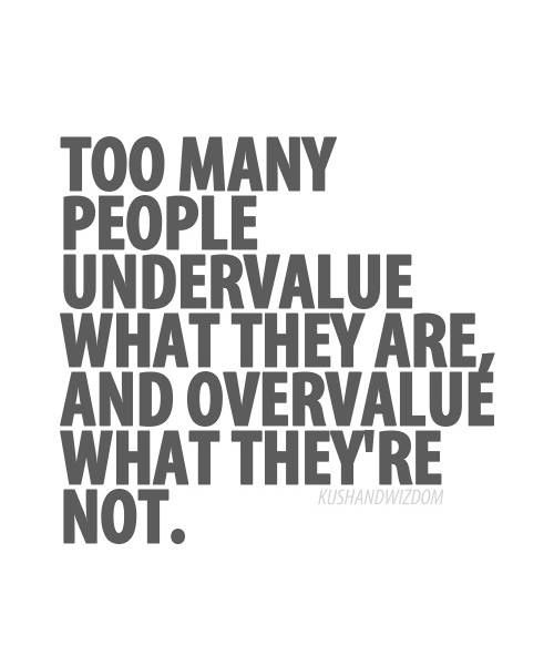 #Truth..  Value and love yourself. Remember, you are wonderfully and fearfully made.. Stand out by being true to yourself