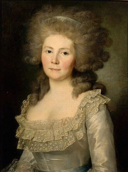 """Portrait of N.A. Buksgevden, wife of Count F.F. Buksgevdena"", 1789, by Jean-Louis Voille (French, 1744-1803/05)"