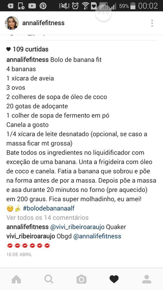 Bolo de banana