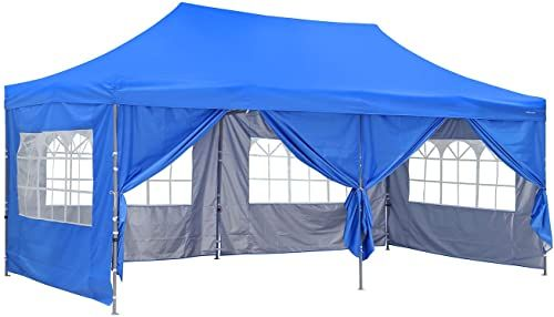 Best Seller Outdoor Basic 10x20 Ft Wedding Party Canopy Tent Pop Instant Gazebo Removable Sidewalls Windows Blue Online Prettytoppro In 2020 Canopy Tent Outdoor Blue Patio Furniture Canopy Tent