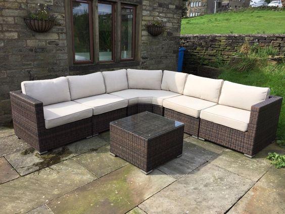 Barcelona Rattan Garden Furniture Angled Corner Sofa Set With Table New - Brown https://t.co/ML87e1z5YE https://t.co/VkGr0pJuw7