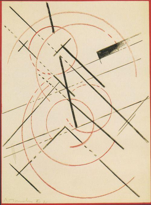 Liubov Popova, Lineare Composition (1919).
