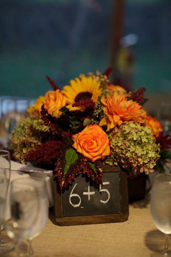 Flower Centerpieces Fall Wedding Flowers And Wedding