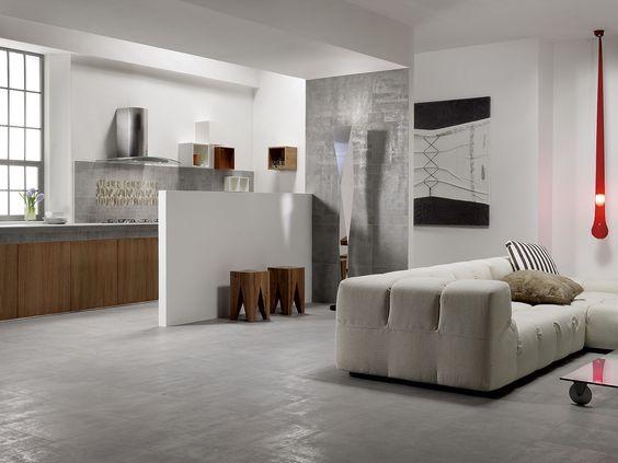 Carrelage sol int rieur gr s de c rame blanc aurillac for Carrelage interieur blanc
